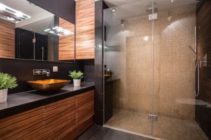 Bathroom with led lighting