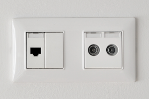 TV and phone sockets